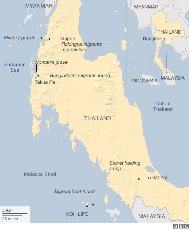 Thai traffickers map