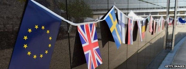 Flags at EC building