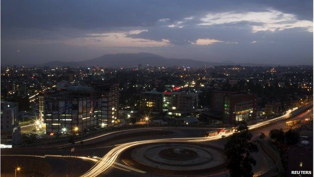 A general view shows part of the capital Addis Ababa on 17 May.