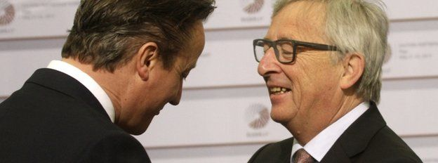 David Cameron and European Commission President Jean-Claude Juncker