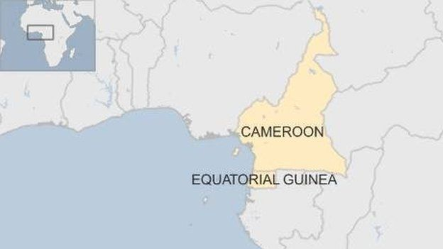 Map of Cameroon and Equatorial Guinea