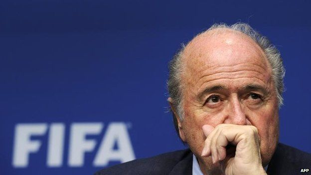 FIFA President Sepp Blatter gives a press conference at the headquarters of the world football's ruling body in Zurich. World football governing body FIFA announced on May 27, 2011