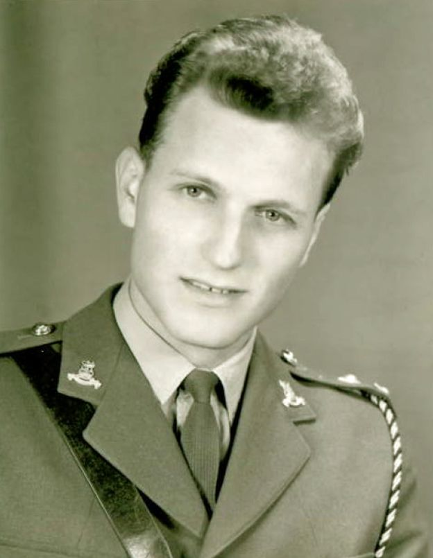 Richard Vaughan in military uniform