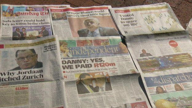South African papers