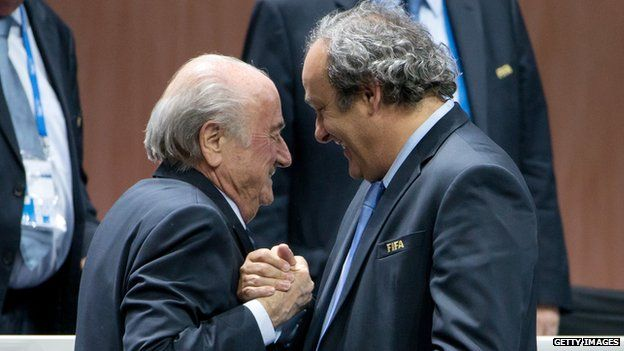 Sepp Blatter and Michel Platini 29 May 2015