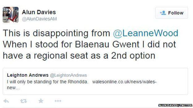 Alun Davies tweet
