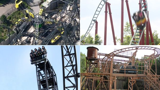 Rollercoasters composite image