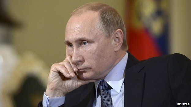 President Putin during the interview with the Corriere della Sera