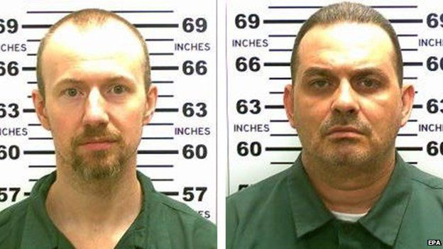 David Sweat (L) and Richard Matt (R) who escaped from the maximum security Clinton Correctional Facility