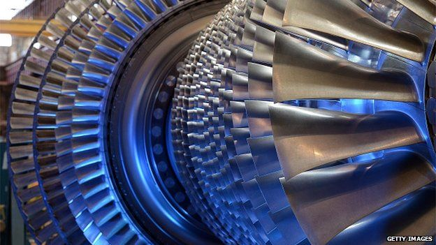 Gas turbine at GE factory in France