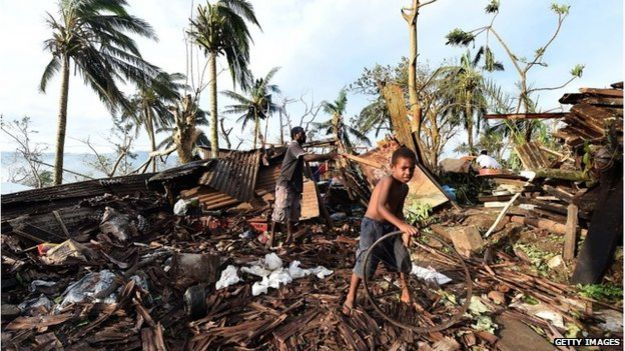Aftermath of Cyclone Pam, Vanuatu, 16 March 2015