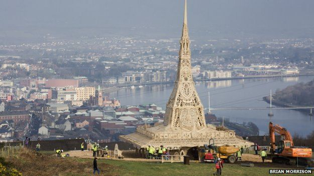 A view of the temple overlooking Londonderry