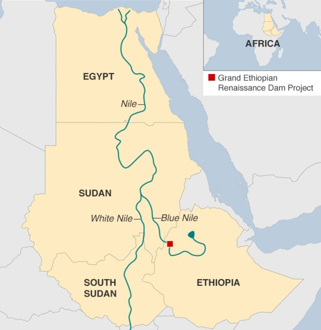 map of the river nile