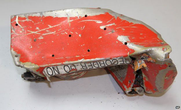 The damaged flight recorder