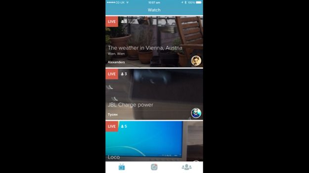 A screenshot of Periscope
