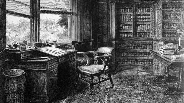 Charles Dickens' desk