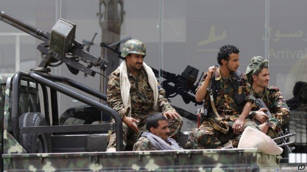 Houthi rebels in Yemen, 28 March