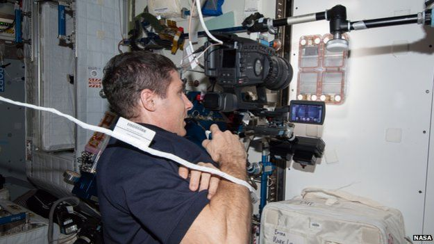 experiment apparatus on the ISS