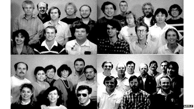 The design team featured in the Easter egg hidden in the Macintosh SE