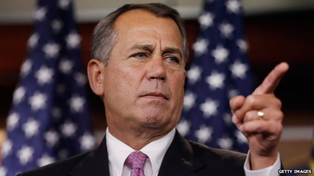 House Speaker John Boehner at a press conference