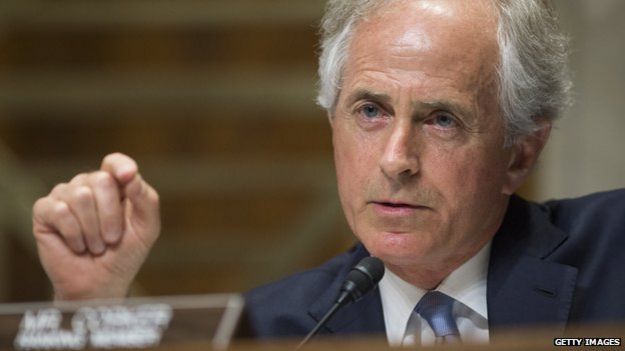 Republican Senator Bob Corker - giving a speech