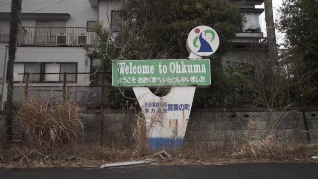 The deserted exclusion zone, near the Fukushima power plant, in Japan.