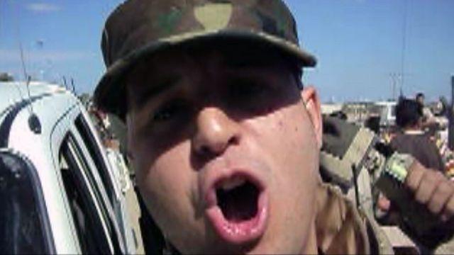 Man at the capture of Col Gaddafi