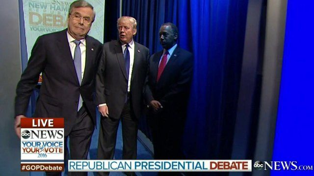 Jeb Bush leaves Donald Trump and Ben Carson in the wings