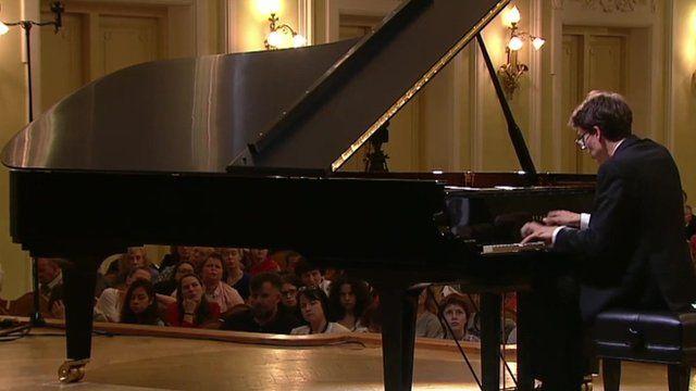 Lucas Debargue plays the piano