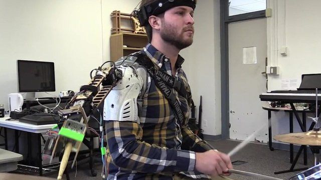 A 'smart' drumming arm