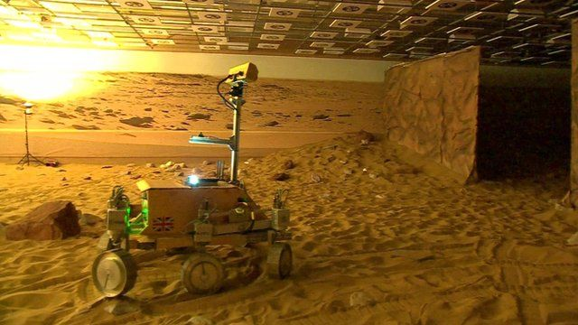 VIDEO: Tim Peake drives remote Mars rover...