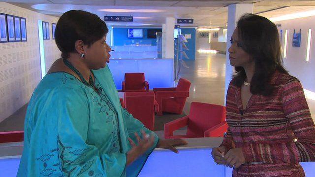 Fatou Bensouda speaks to Zeinab Badawi