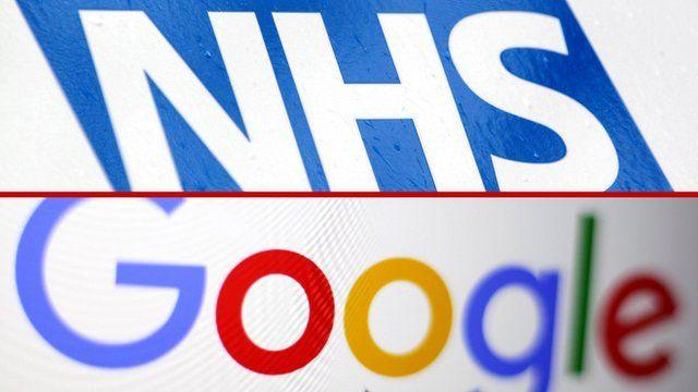 NHS logo and Google logo