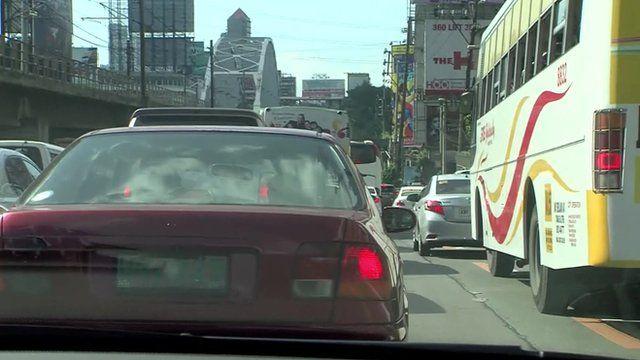 traffic jam in Manila