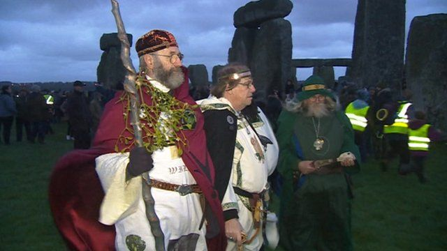 Crowds gather for winter solstice
