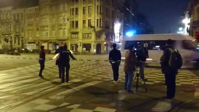 Schaerbeek police cordon