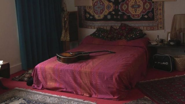 Bed and guitar