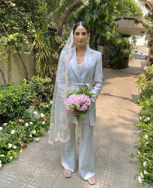 Sanjana Rishi at her wedding