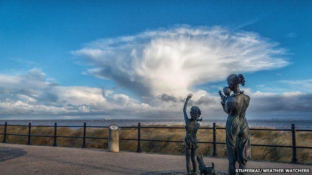 Storm cloud over water