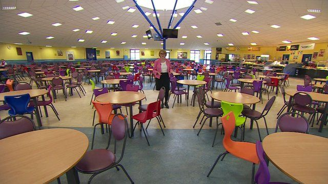 Large school dining-room