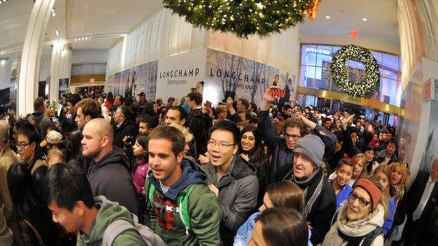 Shoppers in Macy's store