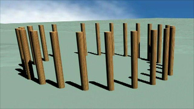 Computer projection of what the second henge looked like.