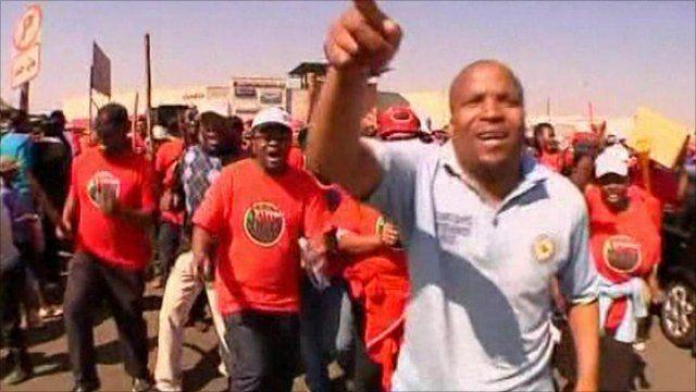 Strikers in Katlehong, South Africa