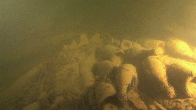 Champagne on seabed