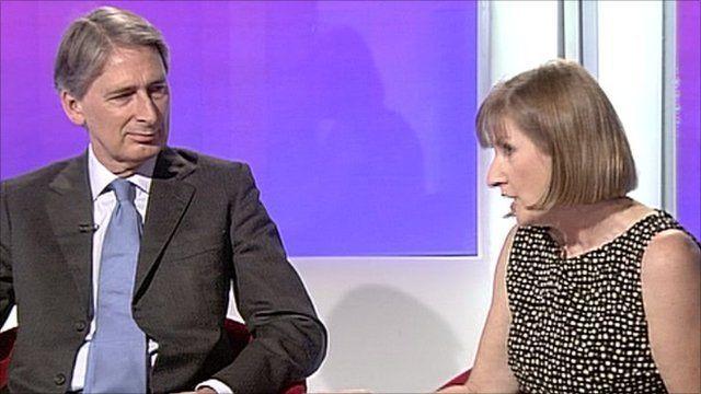 Philip Hammond and Hilary Wharf