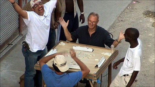 Playing dominoes in Cuba