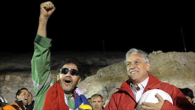 Luis Urzua and President Pinera