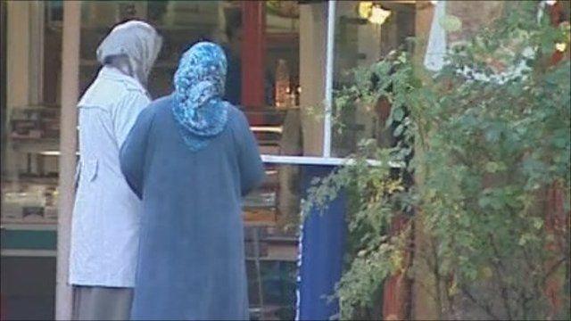 Women in Germany wearing veils
