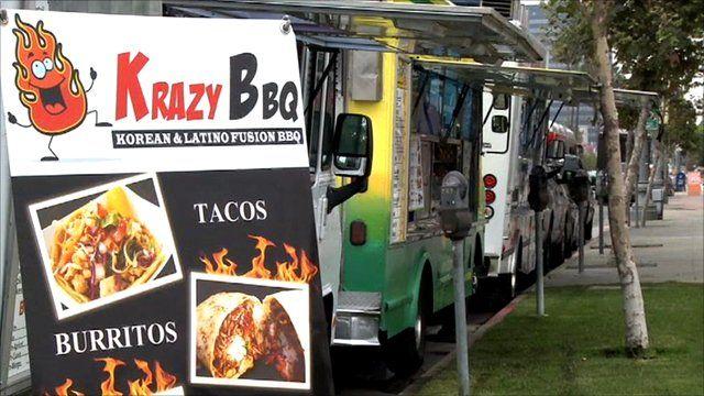 Gourmet food trucks in LA