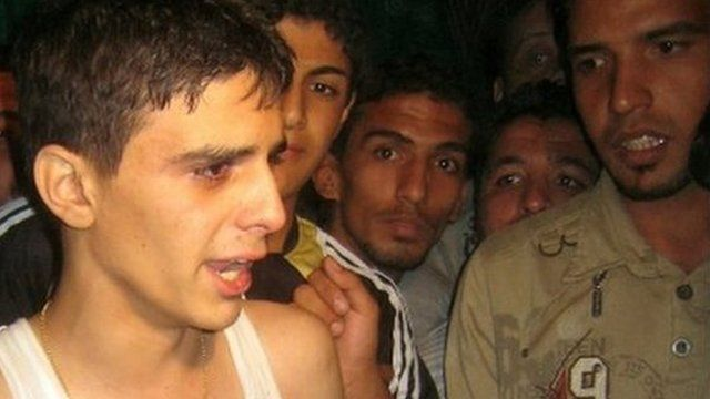 Iraqi youth after his release